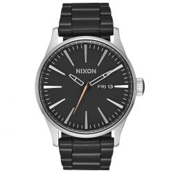 Men's Nixon Sentry SS Black Stainless Steel Watch A3562541