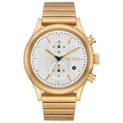 Men's Nixon Station Chrono Gold Tone Watch A11622612