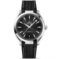 Men's OMEGA Seamaster Aqua Terra Black Dial Rubber Strap Watch O22012412101001