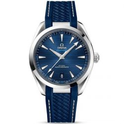 Men's OMEGA Seamaster Aqua Terra Blue Dial Rubber Strap Watch O22012412103001