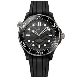 Men's OMEGA Seamaster Automatic Diver Black Rubber Strap Watch O21092442001001