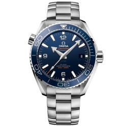 Men's OMEGA Seamaster Planet Ocean Master Chronometer Blue Dial Watch O21530442103001