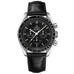 Men's OMEGA Speedmaster Professional Black Leather Strap Watch O31133423001001