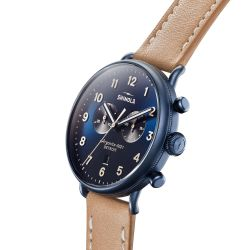 Men's Shinola 'The Canfield' Chronograph Leather Strap Watch S0120161933