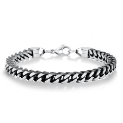 Men's Stainless Steel Square Chain Bracelet