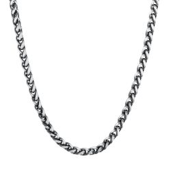 Men's Stainless Steel Wheat Chain Necklace