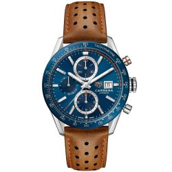 Men's TAG Heuer CARRERA Calibre 16 Automatic Chronograph Watch CBM2112.FC6455