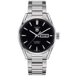 Men's TAG Heuer CARRERA Calibre 5 Day-Date Automatic Watch WAR201A.BA0723