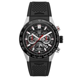 Men's TAG Heuer CARRERA Calibre Heuer 02 Automatic Chronograph Watch CBG2A10.FT6168