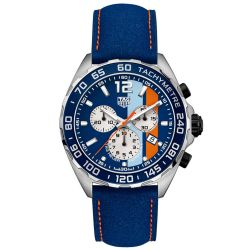 Men's TAG Heuer FORMULA 1 Gulf Special Edition Quartz Watch CAZ101N.FC8243