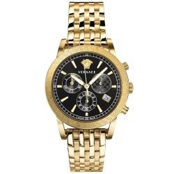 Men's Versace Sport Tech Chronograph Gold-Tone Stainless Steel Watch VELT00419