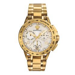 Men's Versace Sport Tech Chronograph Gold-Tone Stainless Steel Watch VERB00518