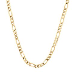 Men's Yellow Gold Figaro Chain Necklace 7mm, 24 Inches