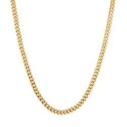 Men's Yellow Gold Miami Cuban Chain Necklace 6mm, 24 Inches