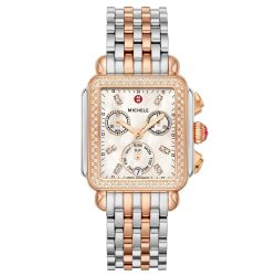 Michele Deco Diamond Dial Two-Tone Stainless Watch MWW06P000232