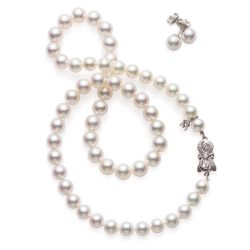 MIKIMOTO 7-8mm Akoya Cultured Pearl Necklace and Earring Gift Set