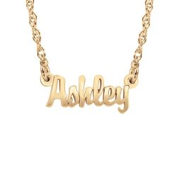Alison and Ivy Mini Script One Name Necklace