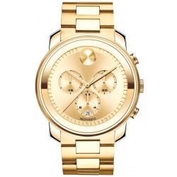 Movado BOLD Large Gold-Tone Chronograph Watch 3600278