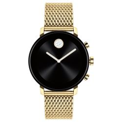 Movado Connect 2.0 Gold-tone Stainless Steel Mesh Bracelet Smartwatch 3660026