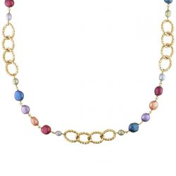Multi-Color Freshwater Cultured Pearl Necklace