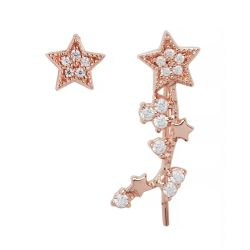 Olivia Burton Celestial Star Crawler and Stud Earrings, Rose Gold-Tone