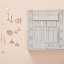 Olivia Burton Rainbow House Of Huggies Rose Gold-Tone Earring Gift Set