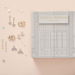 Olivia Burton Rainbow House Of Huggies Yellow Gold-Tone Earring Gift Set