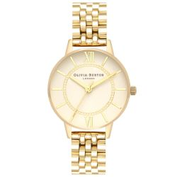 Olivia Burton Wonderland Gold Ion-Plated Stainless Steel Bracelet Watch OB16WD69