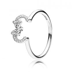 Pandora - Disney, Minnie Silhouette Ring, Clear Cubic Zirconia