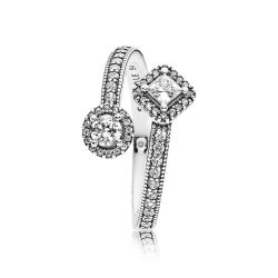 Pandora Abstract Elegance Ring, Clear Cubic Zirconia
