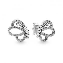 Pandora Butterfly Outlines Earrings, Clear Cubic Zirconia
