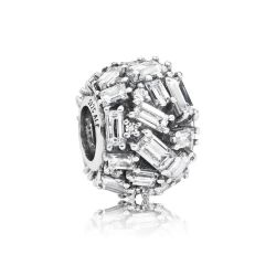 Pandora Chiselled Elegance Charm, Clear Cubic Zirconia