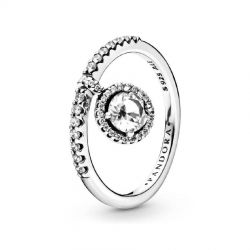 Pandora Clear Dangling Round Sparkle Ring