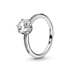 Pandora Clear Sparkling Crown Ring
