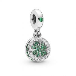 Pandora Dazzling Clover Dangle Charm, Multi-Colored Crystals and Clear Cubic Zirconia