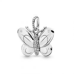 Pandora Decorative Butterfly Pendant, Clear Cubic Zirconia