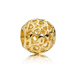 Pandora Gold Glowing with Love Charm