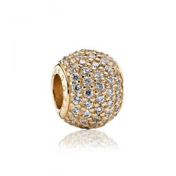 Pandora Gold Clear Pave Lights Charm