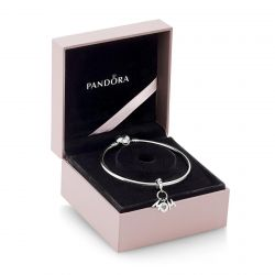 Pandora Perfect Mom Bangle Bracelet Gift Set, Pink and Liliac Crystals