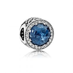 Pandora Radiant Hearts Charm, Moonlight Blue Crystal and Clear Cubic Zirconia