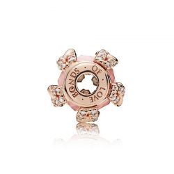 Pandora Rose™ Essence Collection BONDS OF LOVE Charm, Blush Pink Crystal & Clear Cubic Zirconia