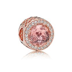 Pandora Rose™ Radiant Hearts Charm, Blush Pink Crystal & Clear Cubic Zirconia