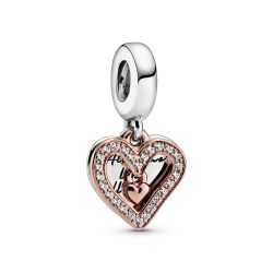 Pandora Rose™ Sparkling Freehand Heart Dangle Charm