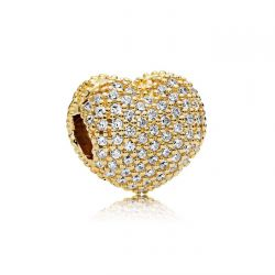 Pandora Shine™ Pave Open My Heart Clip, Clear Cubic Zirconia