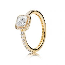 Pandora Gold Timeless Elegance Ring, Clear Cubic Zirconia