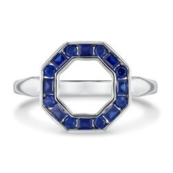REEDS Exclusive Stop Collection Created Blue Sapphire Octagon Ring
