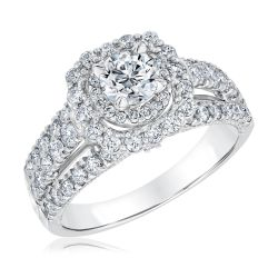 Ellaura Timeless Round Diamond Halo Engagement Ring 1 5/8ctw