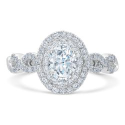 Ellaura Couture REEDS Exclusive Oval Diamond Engagement Ring 1 1/4ctw