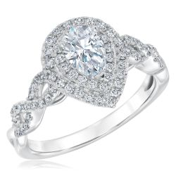 Ellaura Couture REEDS Exclusive Pear Diamond Engagement Ring 1 1/4ctw