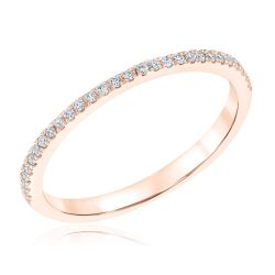 Rose Gold Wedding Band for True by Hallmark Bridal Ring 1/10ctw